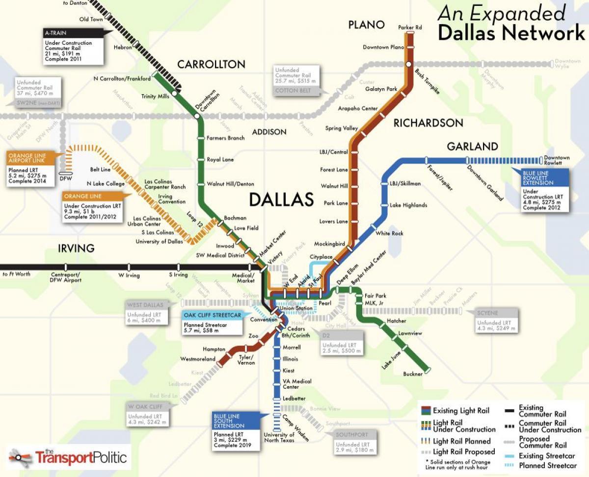 Metropolitana De Dallas Mapa Mapa De Metropolitana De Dallas - Mapa de texas usa